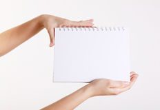 White noteb Royalty Free Stock Images