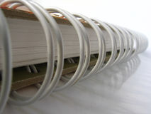White notebook. Ring binder - white notebook - handwriting Royalty Free Stock Photos