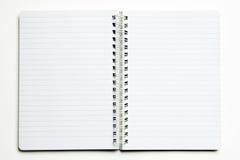 White notebook Stock Photos