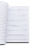 White notebook. On white background royalty free stock photo