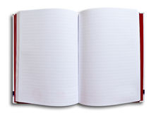 White notebook. On white background royalty free stock photos