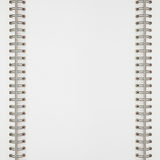 White notebook background Royalty Free Stock Images