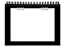 White notebook lay on black notebook Royalty Free Stock Photo