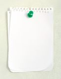 White Notebook Paper stock photo