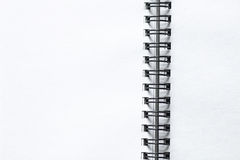 White notebook paper Stock Image