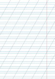 White notebook paper with margin Royalty Free Stock Photos