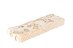 White nougat bar Royalty Free Stock Photos