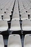 White numbered seats Royalty Free Stock Photo