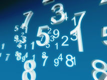 White numbers. On blue background Royalty Free Stock Photo
