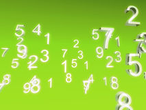 White numbers. On green background Stock Photography