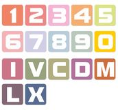 White numbers. On pastel background Royalty Free Stock Photos