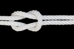 White nylon rope on  background Stock Photography