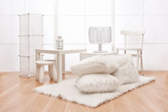 White objects in the interior stock photos