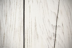 White obsolete planks. For background or texture Royalty Free Stock Photo