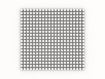White occlusion bulb pattern on white Royalty Free Stock Photos