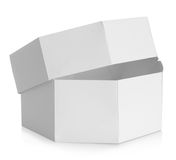 White octagon shaped box Royalty Free Stock Photo