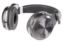 white odizolowane słuchawki Obraz Stock