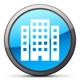 White Office Building icon Stock Photography