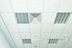 White office ceiling. Royalty Free Stock Photos