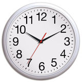 White office clock Royalty Free Stock Photography