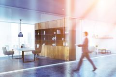 Free White Office Corridor And Lounge, Man Royalty Free Stock Photos - 138285538
