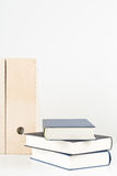 White office desk with books and folders Stock Photography