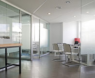 White office interior. White office view in Spain Stock Images
