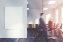 White office lobby, meeting room, people Royalty Free Stock Photos