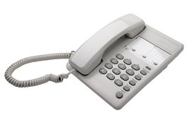 White office phone isolated Royalty Free Stock Image