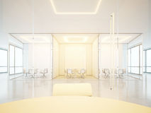 White office space with meeting rooms Stock Image