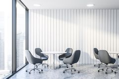 White office waiting room interior stock photography