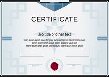 White official certificate. Blue flat design elements Royalty Free Stock Photos