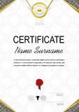 White official certificate and white realistic ribbon Stock Images