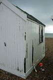 White old beach hut Royalty Free Stock Images