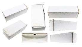White old BOX set Royalty Free Stock Images