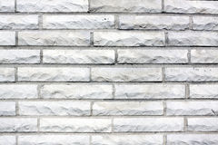 White Old Brick Wall Stock Photo