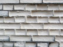 White old bricks wall texture Stock Images