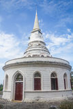 White old building. Ancient thai style building with round shape Stock Photos