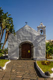 White Old Building With Blue Sky-Canary Isl.,Spain Royalty Free Stock Image