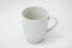 White old ceramic mug Royalty Free Stock Image