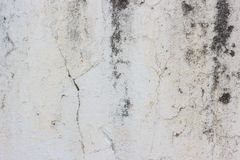 White old dirty cracked wall texture background. Old wall with fungus dirt and cracks for background or texture Stock Photo