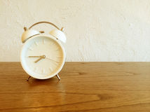 White old-fashioned alarm clock Royalty Free Stock Image