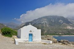 White old greek Church Stock Photo