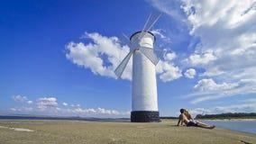White old lighthouse in Swinoujscie, Poland Stock Photo