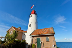 White old lighthouse in Urk Royalty Free Stock Images
