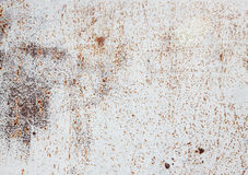 White Old metal. Old rusty metal surface, rustic background Stock Image