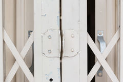 White old steel door Royalty Free Stock Images