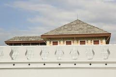 White old Thai style fort at wat prakaew. Bangkok thailand Stock Photography