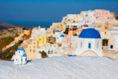 White old town of Santorini Stock Photography
