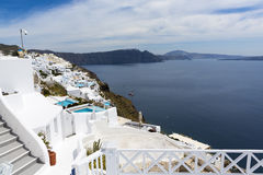 White old town of Santorini Royalty Free Stock Images